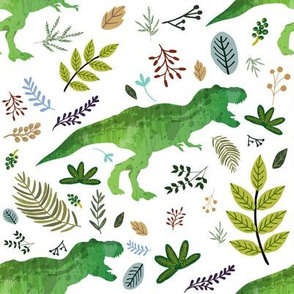 """8"""" Dino and Leaves"""