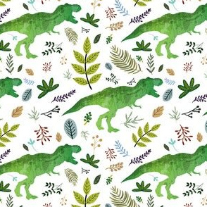 """4"""" Dino and Leaves"""