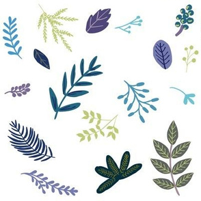 """8"""" Blue and Purple Leaves and Branches"""