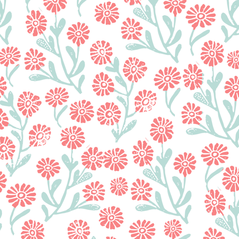 Daisy cute floral flower fabric perfect nursery bedding for Floral nursery fabric