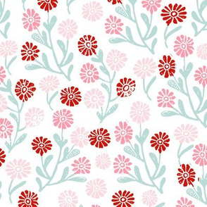 daisy // cute floral flower fabric perfect nursery bedding white