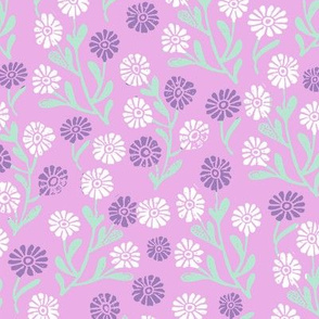 daisy // cute floral flower fabric perfect nursery bedding lavender