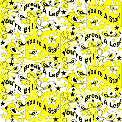 Elmer You're A Star Contest fabric by lworiginals on Spoonflower - custom fabric