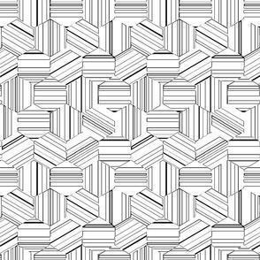 hexagon stripe3c stamped