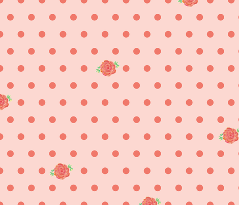 rose_polka_dots_pink fabric by jessicamariefrancis on Spoonflower - custom fabric