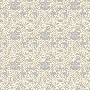 Folk Floral 01 | Grey