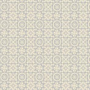 Folk Floral 02 | Grey