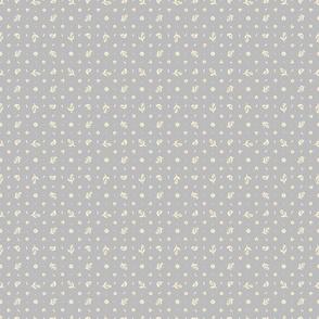 Folk Floral 03 | Grey