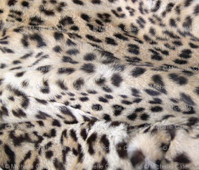 layers of snow leopardprint
