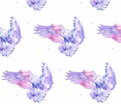 owl 300 dpi SF copy fabric by artchangel_design on Spoonflower - custom fabric