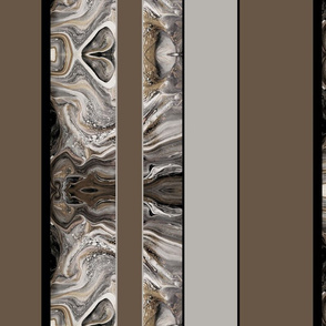 Large Marbled Stripes in Brown and Gray