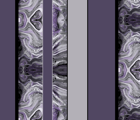 Large Marbled Stripes in Smoky Plum fabric by mel_fischer on Spoonflower - custom fabric