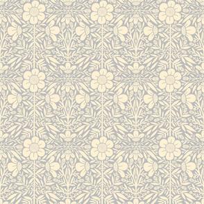 FolkFloral 01 | Grey Reversed