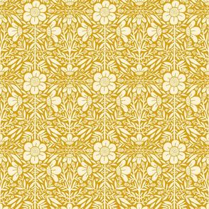 Folk Floral 01 | Mustard Reversed