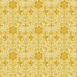 Folk Floral 01 | Mustard