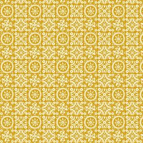 FolkFloral 02 | Mustard
