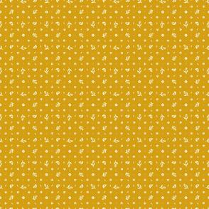 Folk Floral 03 | Mustard