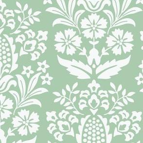 Pineapple Damask Green