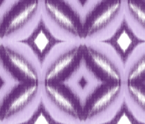 Circles Ikat Pattern in Violet fabric by mel_fischer on Spoonflower - custom fabric