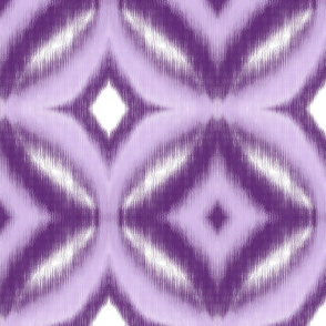 Circles Ikat Pattern in Violet
