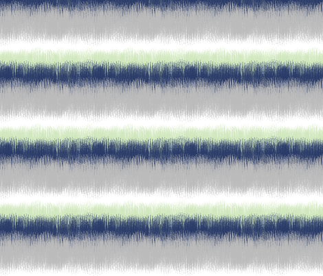 Ikat stripes in navy blue, gray and mint green fabric by mel_fischer on Spoonflower - custom fabric