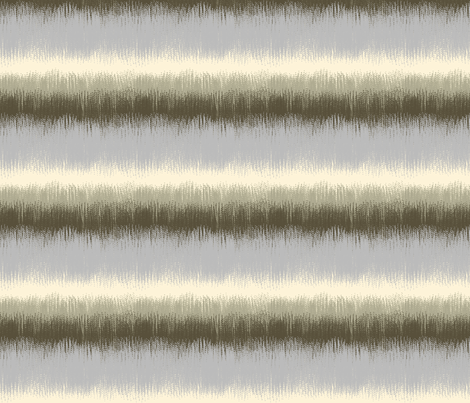 Ikat Stripes in Browns and Gray fabric by mel_fischer on Spoonflower - custom fabric