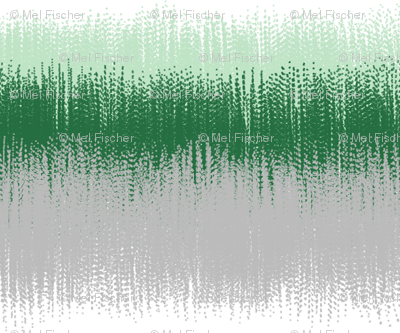 Ikat Stripes in Greens, Gray and White