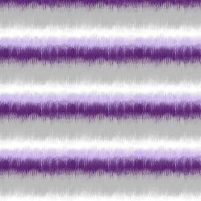 Ikat Stripes in Violet and Gray