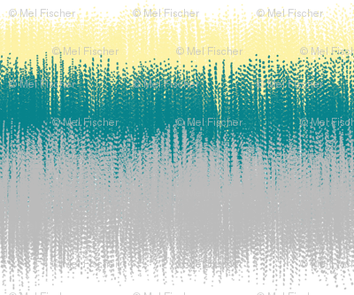 Ikat Stripes in Teal, Yellow and Gray