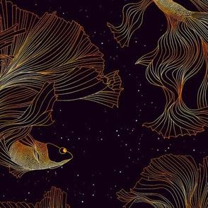 Goldfish glistening