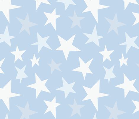 Winter Stars Snow fabric by hazelnut_green on Spoonflower - custom fabric