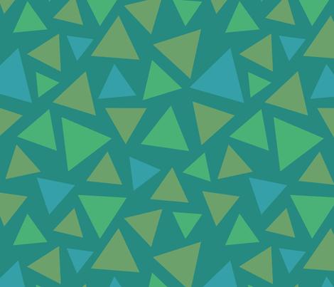 Summer Triangles Grass fabric by hazelnut_green on Spoonflower - custom fabric