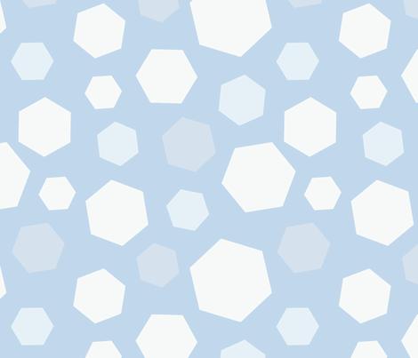 Winter Hexagon Snow fabric by hazelnut_green on Spoonflower - custom fabric