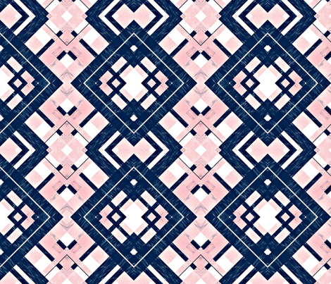 Dark Navy and Light Pink Watercolor Plaid-ed-ed fabric by jessicaruthtextiles on Spoonflower - custom fabric