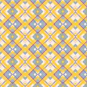 Blue Yellow Magenta Plaid Watercolor-ed