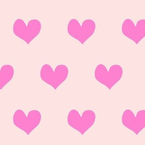 hearts - bold pink on pink