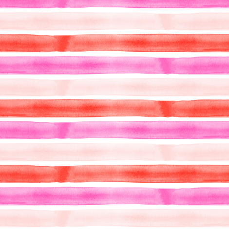 valentines watercolor stripes fabric by littlearrowdesign on Spoonflower - custom fabric