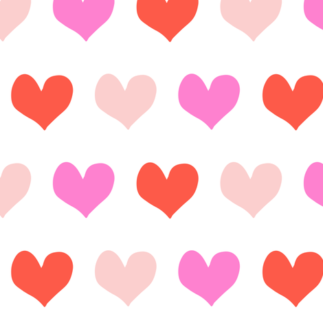 heart fabric - multi hearts fabric by littlearrowdesign on Spoonflower - custom fabric
