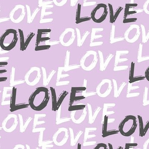 Love - multi on purple