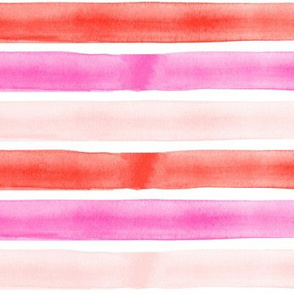 valentines watercolor stripes