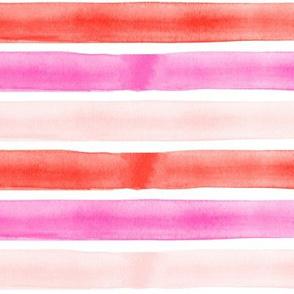 valentines watercolor stripes