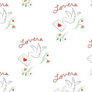 Sweet Birdie Heart Print