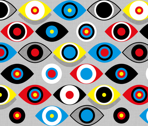Eye on the Target fabric by spellstone on Spoonflower - custom fabric