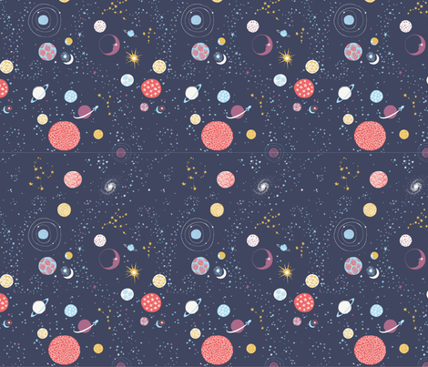 Cosmic Voyage 25% Scale fabric by chrissievh on Spoonflower - custom fabric