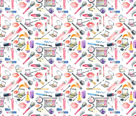 "Makeup 8"" fabric by greenmountainfabric on Spoonflower - custom fabric"