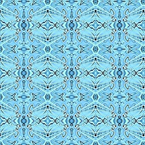 Prismatic Passions in  Monochromatic Blue