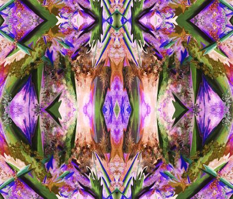 GF3 - Large -  Galactic Fantasy in Brown - Avocado - Orange - Purple fabric by maryyx on Spoonflower - custom fabric
