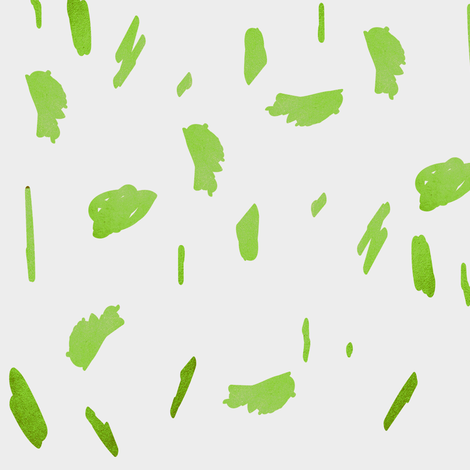 lime green daubs fabric by jenlats on Spoonflower - custom fabric