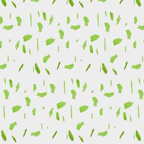 lime green daubs