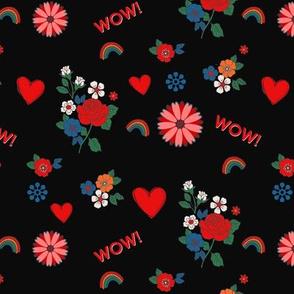 Valentine hearts design love